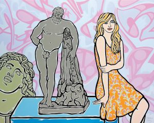 Herkules und Mädchen, 2013, Öl auf Leinwand, 160 x 200 cm