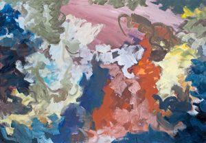 Im Laufe der Zeit IV, 1988 – 1997, Öl auf Leinwand, 161 x 111 cm