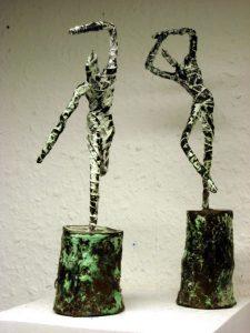 Bronzefigürchen, Höhe ca. 15 cm