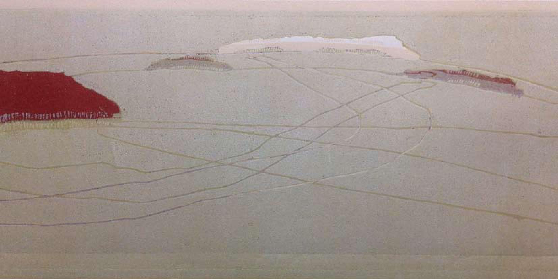Holzschnittserie albZeit, 2015, Handdruck auf Bütten, 67 x 114 cm