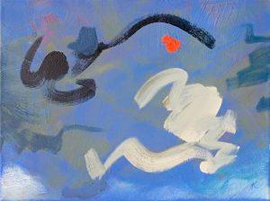 Mariscos V, 2001, Öl auf Leinwand, 40 x 30 cm