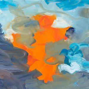 Spielfeld VII, 2001, Öl auf Leinwand, 60 x 50 cm (Ausschnitt)