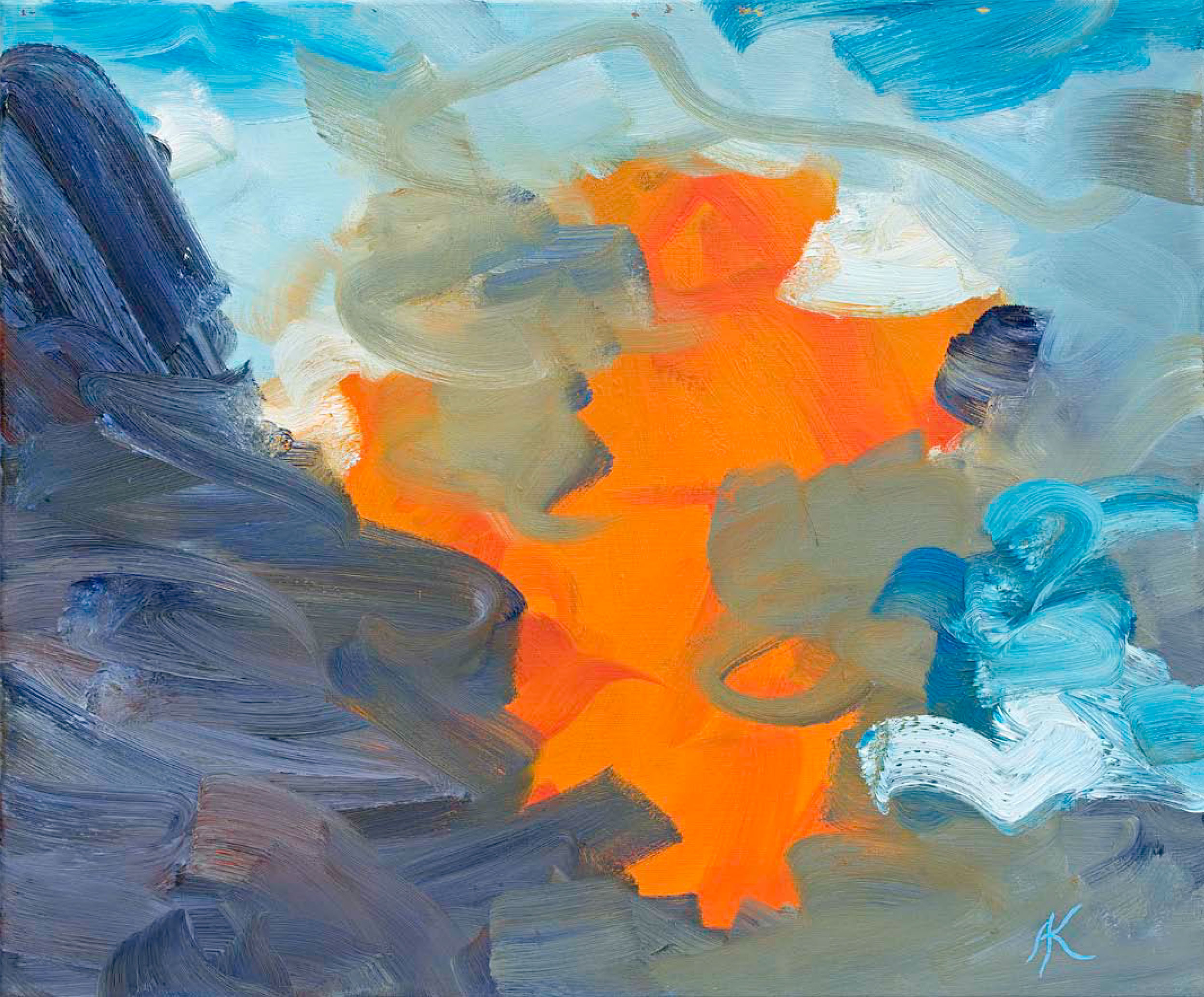 Spielfeld VII, 2001, Öl auf Leinwand, 60 x 50 cm