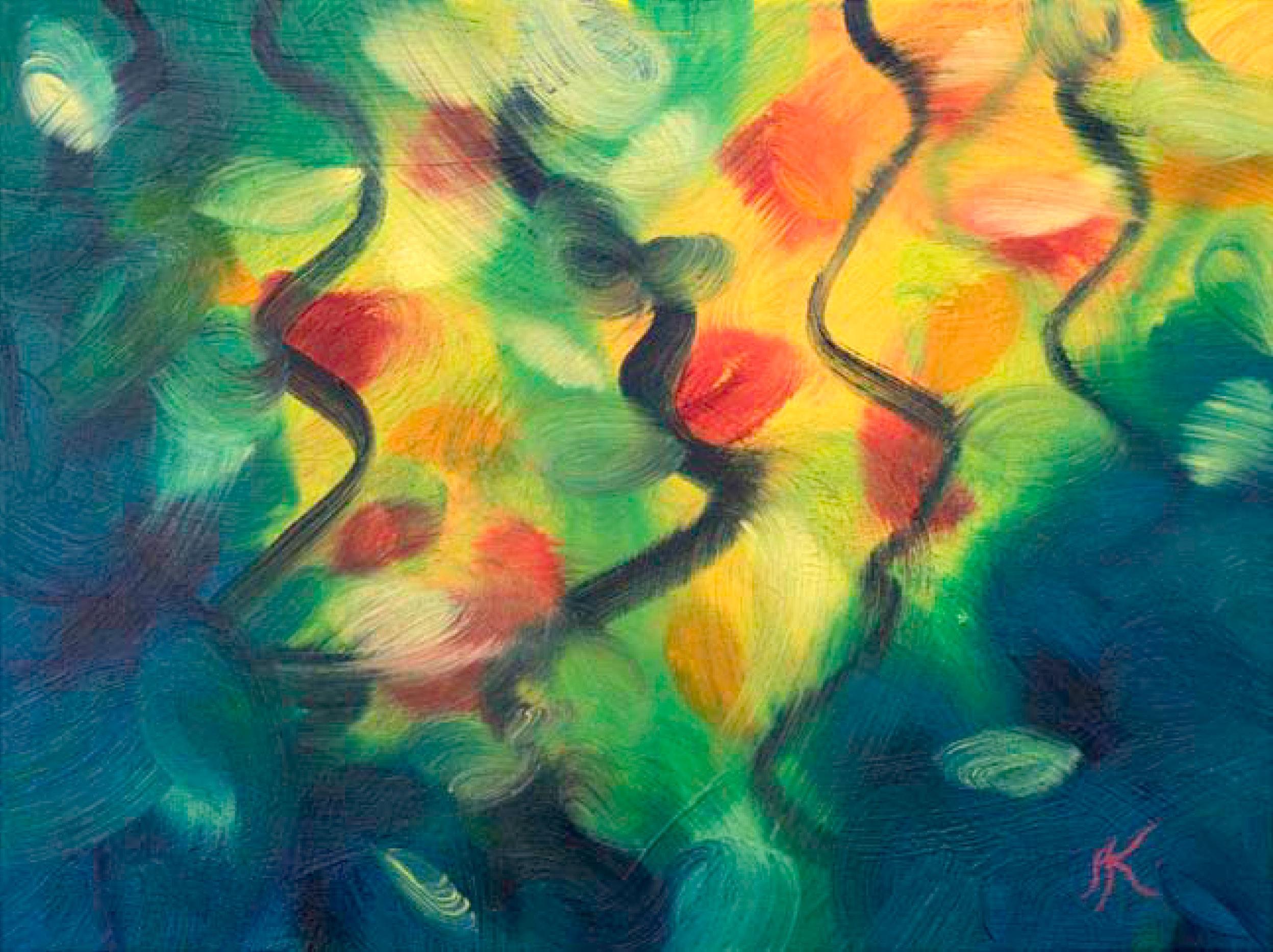 Transforming Nature III, 2016, Öl auf Leinwand, 40 x 30 cm