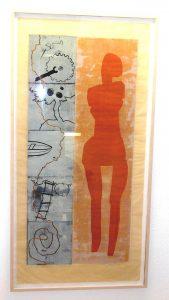 Ganz großer Holzschnitt 179 x 92 x 5 cm, gerahmt, Auflage 6
