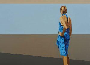Passanten 36, 2015, Öl auf Leinwand, 100 x 140 cm